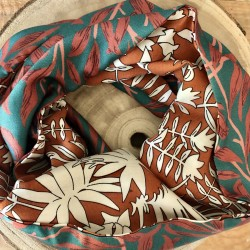 Snood Camel Turquoise