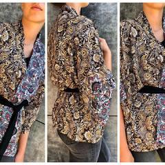 🍂🍁Coloris automnal 🍁🍂 #kimono #look #lookautomne #modeautomne #mode #fashion #outfit #tendancekimono #fluide #viscose #automne #creatricefrancaise #madeinhautesavoie #madebyme  #instapic #picoftheday #hautesavoie #thononlesbains #3princessandco